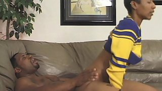 Sensual Hairy Girl Rides on a Black Dick After The Sports Match