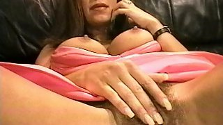 Outstanding Looking MILF is Getting Caught Pleasing Her Hairy Cunt By a Postman & Then Gets Fuck