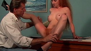Deepthroat Pussy & Anal Fucking Action In This Hairy Cunt Redhead Woman Hardcore Movie