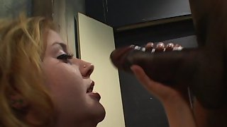 an Awesome Hairy Pussy Of Cherry Poppins is being Exploited In a Dungeon By an Ebony Guy