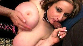 Plump Big Boobed Babe Serves Her Hairy Pussy For Good Fucking and Sucking For Two Cocks At The Same