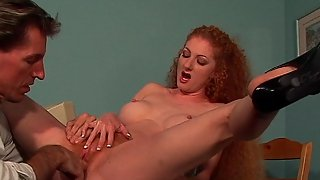 Deepthroat Anal & Cunt Fucking Action In This Unshaven Pussy Redhead Woman Hardcore Video
