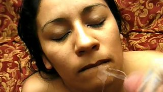 MMF Group Sex Orgy with a Cool Latin Amateur Who Never Shaved Her Precious Hairy Pussy