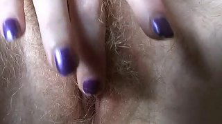 Russian Blonde Teen is Getting Her Hairy Pussy Fucked By Fucking Machine
