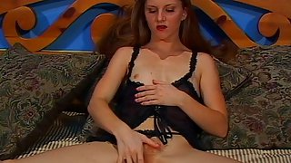 Skinny Redhead Amateur with Small Boobs and Huge Hairy Bush Gives a Deepthroat Blowjob and Before a