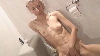 Skinny Girl From Europe Can't Get Enough Masturbating Her Hairy Vagina